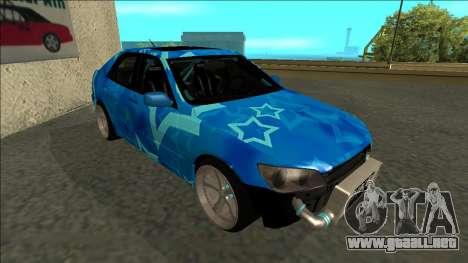 Lexus IS300 Drift Blue Star para GTA San Andreas left