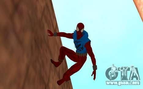 Scarlet Spider Ben Reilly Robinosuke para GTA San Andreas segunda pantalla