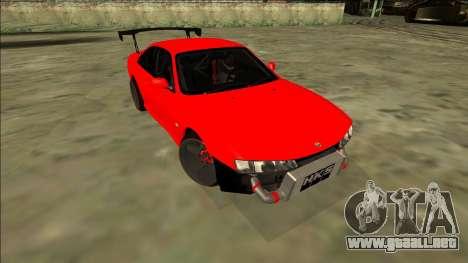 Nissan Silvia S14 Drift para la visión correcta GTA San Andreas