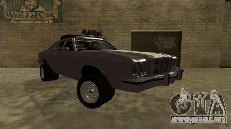 Ford Gran Torino Rusty Rebel para la visión correcta GTA San Andreas