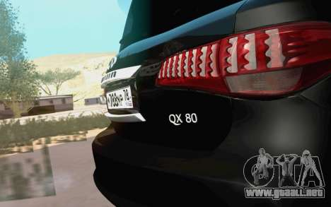 Infiniti QX80 para la visión correcta GTA San Andreas