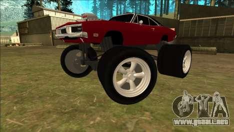 Dodge Charger 1969 Monster Edition para GTA San Andreas vista posterior izquierda
