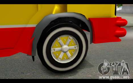 Iveco Turbo Daily Buseton para GTA San Andreas vista posterior izquierda