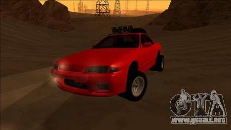 Nissan Skyline R32 Rusty Rebel para visión interna GTA San Andreas