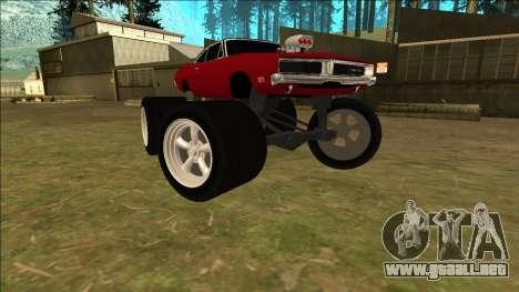 Dodge Charger 1969 Monster Edition para la visión correcta GTA San Andreas
