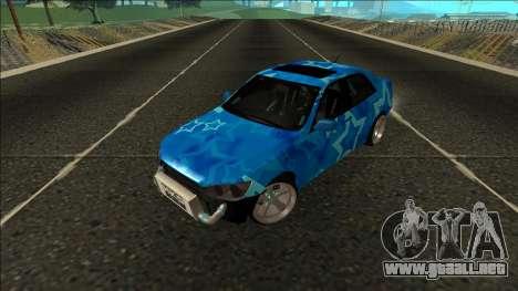 Lexus IS300 Drift Blue Star para GTA San Andreas vista hacia atrás