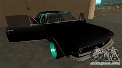 Chevrolet Camaro SS Drift para el motor de GTA San Andreas