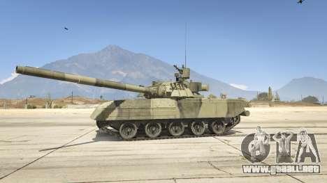 GTA 5 T-80U vista lateral izquierda