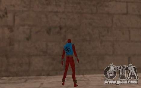 Scarlet Spider Ben Reilly Robinosuke para GTA San Andreas sucesivamente de pantalla