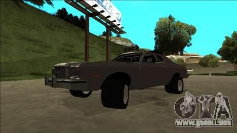 Ford Gran Torino Rusty Rebel para la vista superior GTA San Andreas