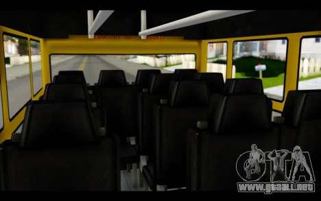 Iveco Turbo Daily Buseton para GTA San Andreas vista hacia atrás