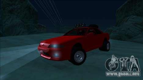 Nissan Skyline R32 Rusty Rebel para la vista superior GTA San Andreas
