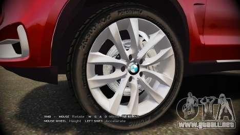 BMW X5 2014 para GTA 4 vista hacia atrás