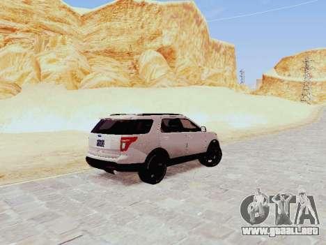 Ford Explorer 2013 Semi-Tuning para GTA San Andreas vista posterior izquierda