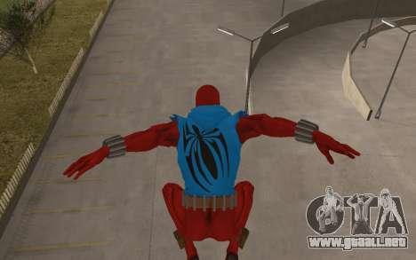 Scarlet Spider Ben Reilly Robinosuke para GTA San Andreas quinta pantalla