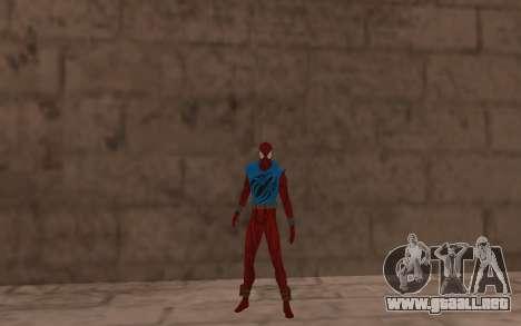 Scarlet Spider Ben Reilly Robinosuke para GTA San Andreas tercera pantalla