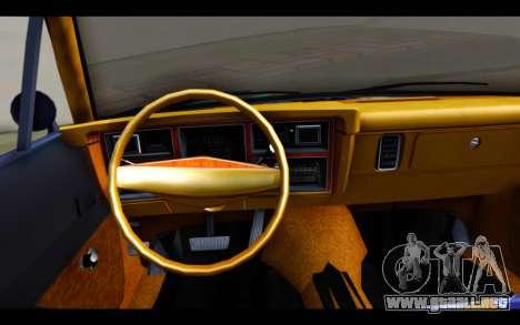 Dodge Dart 1975 v2 Estilo Rusty para GTA San Andreas vista posterior izquierda