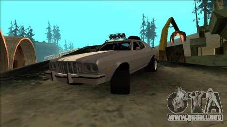 Ford Gran Torino Rusty Rebel para visión interna GTA San Andreas