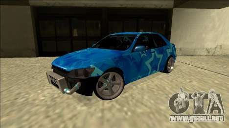 Lexus IS300 Drift Blue Star para GTA San Andreas vista posterior izquierda