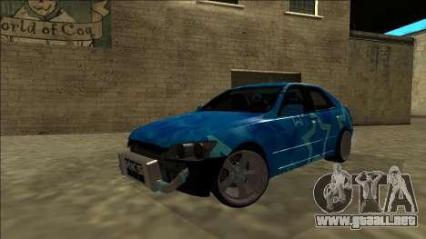 Lexus IS300 Drift Blue Star para vista inferior GTA San Andreas