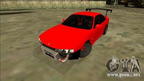 Nissan Silvia S14 Drift para GTA San Andreas vista posterior izquierda