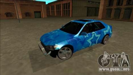 Lexus IS300 Drift Blue Star para la vista superior GTA San Andreas