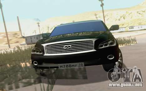 Infiniti QX80 para visión interna GTA San Andreas