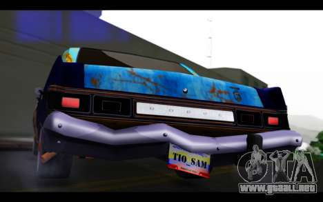 Dodge Dart 1975 v2 Estilo Rusty para visión interna GTA San Andreas