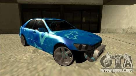 Lexus IS300 Drift Blue Star para la visión correcta GTA San Andreas