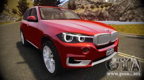 BMW X5 2014 para GTA 4 visión correcta