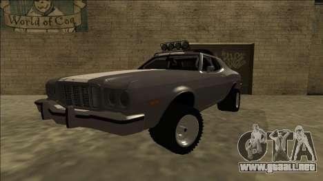 Ford Gran Torino Rusty Rebel para GTA San Andreas vista posterior izquierda