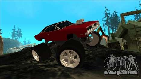Dodge Charger 1969 Monster Edition para visión interna GTA San Andreas