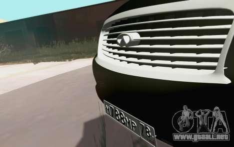 Infiniti QX80 para GTA San Andreas vista hacia atrás