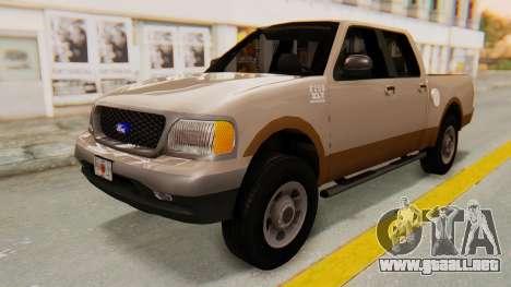 Ford F-150 2001 para la visión correcta GTA San Andreas