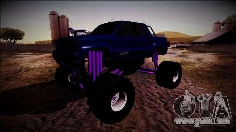 GTA 4 Cavalcade FXT Monster Truck para GTA San Andreas vista hacia atrás