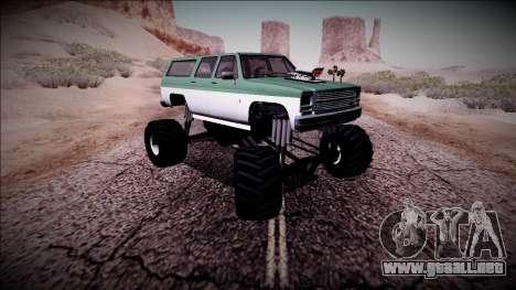 Rancher XL Monster Truck para la vista superior GTA San Andreas