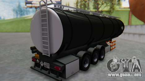 Trailer Cistern para GTA San Andreas left