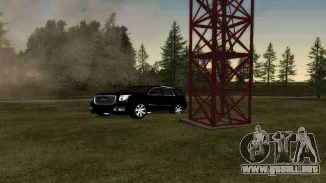 GMC Yukon 2015 para GTA San Andreas vista hacia atrás