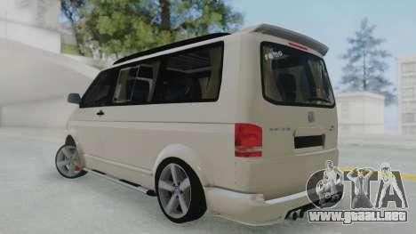Volkswagen Transporter TDI para GTA San Andreas left