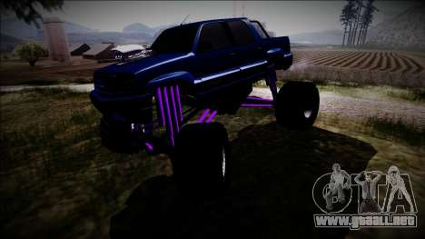 GTA 4 Cavalcade FXT Monster Truck para visión interna GTA San Andreas