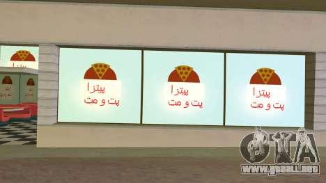 Iraninan Pizza Shop para GTA Vice City tercera pantalla