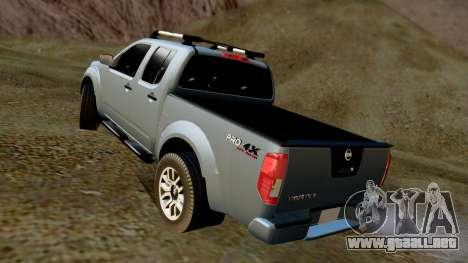 Nissan Frontier PRO-4X 2014 para GTA San Andreas vista posterior izquierda