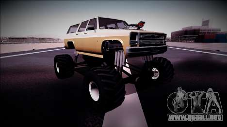 Rancher XL Monster Truck para GTA San Andreas left