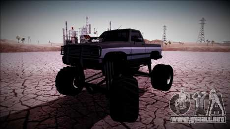 Rancher Monster Truck para vista lateral GTA San Andreas