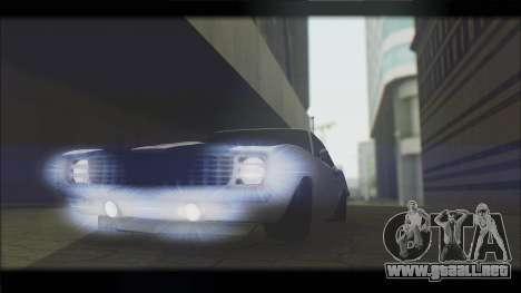 Chevrolet Camaro Z28 1969 Special Edition para visión interna GTA San Andreas