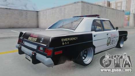 Dodge Dart 1975 v3 Police para GTA San Andreas left