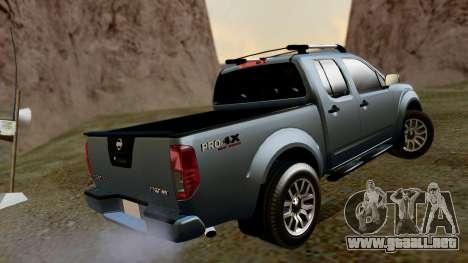 Nissan Frontier PRO-4X 2014 para GTA San Andreas left