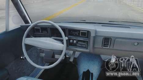 Dodge Dart 1975 v3 Police para visión interna GTA San Andreas