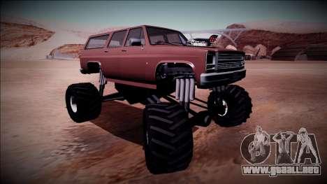 Rancher XL Monster Truck para visión interna GTA San Andreas