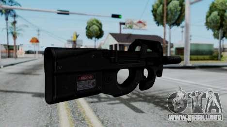P90 para GTA San Andreas segunda pantalla